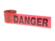 C H Hanson CHH16103 - Standard Grade Barricade Tape - Danger Red 91m (300ft)