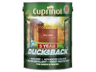 Cuprinol CUPDBRC5L - Ducksback 5 Year Waterproof for Sheds & Fences Rich Cedar 5 Litre