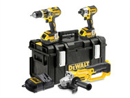 DEWALT DEWDCK382M2 - DCK382M2 Brushless 3 Piece Kit 18 Volt 2 x 4.0Ah Li-Ion