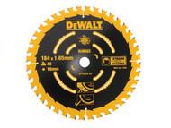DEWALT DEWDT10303QZ - Circular Saw Blade 184 x 16mm x 40T Corded Extreme Framing