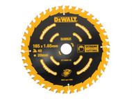 DEWALT DEWDT10640QZ - Circular Saw Blade 165 x 20mm x 40T Cordless Extreme Framing