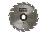 DEWALT DEWDT1142QZ - Circular Saw Blade 160 x 20mm x 18T Series 30 Fast Rip