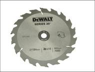 DEWALT DEWDT1152QZ - Circular Saw Blade 190 x 30mm x 18T Series 30 Fast Rip