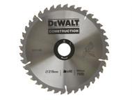 DEWALT DEWDT1155QZ - Circular Saw Blade 216 x 30mm x 40T Series 30 General-Purpose