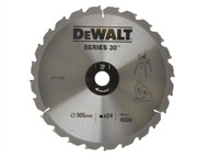 DEWALT DEWDT1160QZ - Circular Saw Blade 305 x 30mm x 24T Series 30 Fast Rip