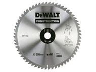 DEWALT DEWDT1162QZ - Construction Circular Saw Blade 305 x 30mm 60T