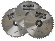 DEWALT DEWDT1174QZ - Circular Saw Blades 305mm Set of 3 in Auminium Case