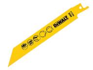 DEWALT DEWDT2384QZ - Bi Metal Sabre Blade for Metal Pipes & Profiles 152mm Pack of 5