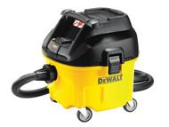 DEWALT DEWDWV901L - DWV901L Wet & Dry Dust Extractor 30 Litre 1400 Watt 110 Volt