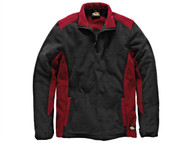 Dickies DIC7011RBL - Two Tone Micro Fleece Red / Black - L