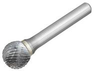 Dormer DOR8071276 - Solid Carbide Bright Rotary Burr Ball 12.7mm x 6mm