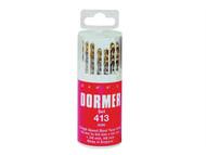 Dormer - A096 No.419 HSS TiN Coated Drill Set of 19 1.00mm-10.00mm x 0.5mm