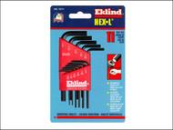 Eklind EKL10111 - Hexagon Key Short Arm Set of 11 Imperial (1/16 - 1/4in)
