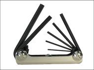 Eklind EKL22572 - Torx Key Fold Up Set of 7 Small (T6-T20)