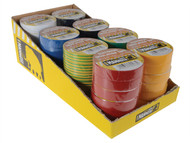 Everbuild EVB2ELECMIX - Electrical Insulation Tape 19mm x 33M Display of 48pc Assorted Colours