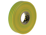 Everbuild EVB2ELECYLGN - Electrical Insulation Tape Yellow/Green 19mm x 33m