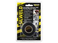 Everbuild EVB2SWELDBK - Silweld Tape Black 3m
