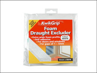Everbuild EVBKGFDE15 - KwikGrip Foam Draught Excluder White 15mm x 8m