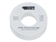 Everbuild EVBPTFEWATER - P.T.F.E Tape 12mm x 12m - Water