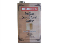 Everbuild EVBRBINDENH5 - Resiblock Indian Sandstone Sealer Colour Enhancer 5 Litre