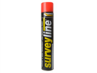 Everbuild EVBSURVEYRE - Surveyline Marker Spray Red 700ml