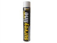 Everbuild EVBSURVEYWH - Surveyline Marker Spray White 700ml
