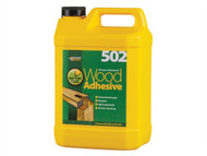 Everbuild EVBWOOD5 - 502 All Purpose Weatherproof Wood Adhesive 5 Litre