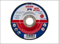 Faithfull FAI1153MDC - Cut Off Disc for Metal Depressed Centre 115 x 3.2mm x 22mm