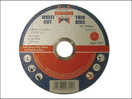 Faithfull FAI12510MUL - Multi-Cut Thin Cut Off Wheel 125mm x 1.0 x 22 Pack of 10