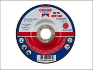Faithfull FAI1253MDC - Cut Off Disc for Metal Depressed Centre 125 x 3.2 x 22mm