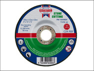 Faithfull FAI1253SDC - Cut Off Disc for Stone Depressed Centre 125 x 3.2 x 22mm