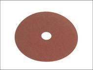 Faithfull FAIAD12560 - Resin Bonded Fibre Disc 125mm x 22mm x 60g (Pack of 25)