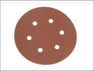 Faithfull FAIAD150120H - Hook & Loop Sanding Disc DID2 Holed 150mm x 120g (Pack of 25)