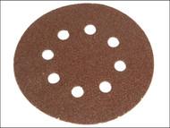 Faithfull FAIADHL150MF - Hook & Loop Sanding Disc 150mm DID2 Medium Fine (Pack of 5)
