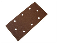 Faithfull FAIAOTSBD - 1/3 Sanding Sheet Red B/D Perforated Assorted (Pack of 5)