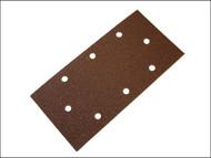 Faithfull FAIAOTSBDHL - 1/3 Sanding Sheet Red B/D Hook & Loop Holed Assorted (Pack of 5)