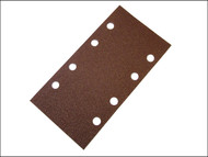 Faithfull FAIAOTSBOS - 1/3 Sanding Sheet Red Bosch Clip Holed Assorted (Pack of 5)