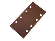 Faithfull FAIAOTSBOSHL - 1/3 Sanding Sheet Red Bosch Hook & Loop Assorted (Pack of 5)
