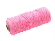 Faithfull FAIBLHVP - Hi Vis Nylon Brick Line 105m - Pink