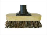Faithfull FAIBRDECKSCR - Deck Scrub Broom Head 175mm (7in) Threaded Socket