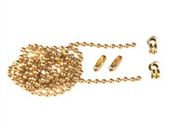 Faithfull FAICHBALLPB1 - Brass Ball Chain Kit 1m Polished Brass