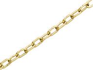 Faithfull FAICHCC1610B - Clock Chain Polished Brass 1.6mm x 10m