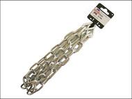Faithfull FAICHCUT60Z - Zinc Plated Chain 6.0mm x 2.5m - Max Load 250kg