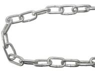 Faithfull FAICHGL525 - Galvanised Chain Link 5 x 28mm x 25m Reel - Max Load 160kg