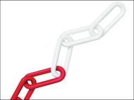 Faithfull FAICHPRW812C - Plastic Chain 8mm x 12.5m Red / White