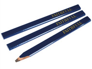 Faithfull FAICPB - Carpenters Pencils - Blue / Soft (Pack of 3)