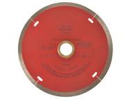 Faithfull FAIDB125CR - Diamond Tile Blade Continuous Rim 125mm x 22.2mm