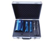 Faithfull FAIDCKIT7 - Diamond Core Drill Kit & Case Set of 7