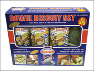 Faithfull FAIDOWBISBOX - Biscuit Wood Kit (150 x No.0, 125 x No.10, 100 x No.20)