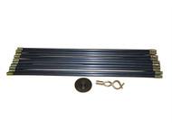 Faithfull FAIDRSET12 - Universal Drain Clean Set (10 x Rods,plunger,worm)